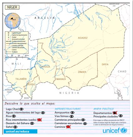 Mapa Politico De Africa Interactivo.Mapa Interactivo De Niger Unicef