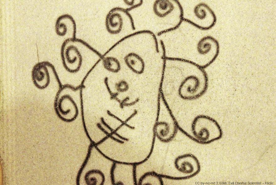 ¿Cómo explico una epidemia a los más pequeños? - Dibujo infantil de un monstruo - CC by-nc-nd 2.0/Mr. Evil Cheese Scientist - Flickr