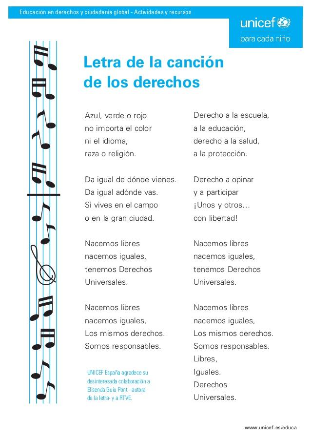 La Canción De Los Derechos Unicef