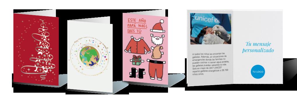 tres modelos de tarjetas de felicitación