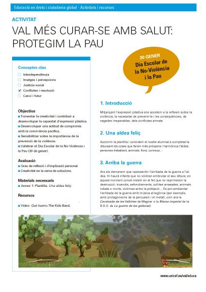 Protegim la pau - Activitat Educació Primària