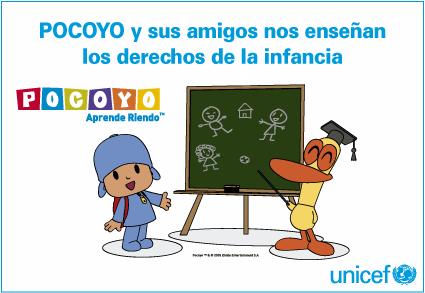 Pocoyó Fichas Para Colorear Sobre Los Derechos De La Infancia Unicef